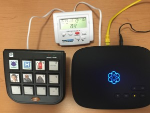 CT-CID803 V5.0 connected in series with Ooma modem and handset